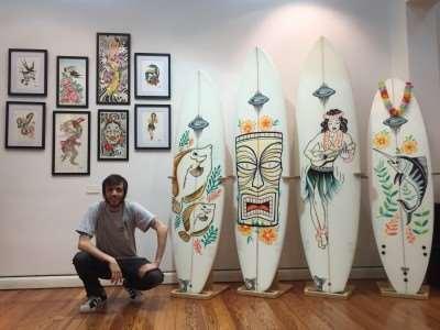 Muestra G-LAND Surfboards x Sebastian Cardaci